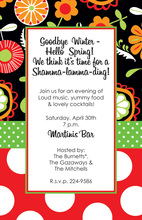 Fresh Mixers Floral Black Invitations