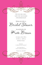 Formal Trendy Milan Pink Invitation