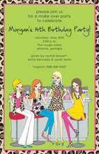 Makeup Counter Invitations