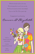 Island Tropical Couple Invitations