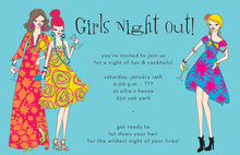 Pretty Cocktail Girls Night Out Invitations