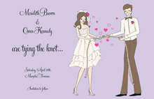 The Knot Cute Couple Shower Invitation