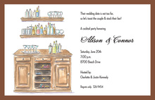 Solid Stock The Bar Invitations