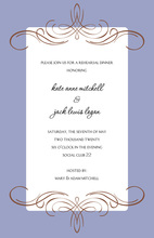 Formal Swirl Milan Lav Invitations