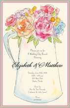 Watercolor Flower Pitcher Invitations