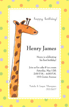 Peeking Giraffe Invitations
