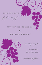 Wine Tasting Lavender Grapevine Invitation