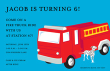Unique Fire Truck Invitations