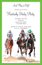 Home Stretch Horse Racing Invitations