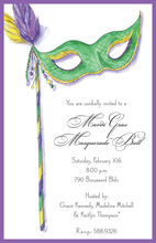 Exquisite Green Mask Invitations