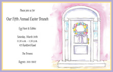 Egg Wreath Invitation