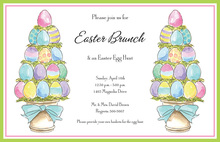 Egg Topiaries Invitation