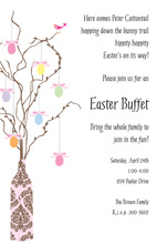 Egg Tree Invitation