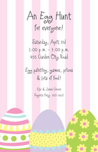 Egg Stripe Invitation