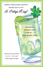 Green Stein Beer Party Invitation