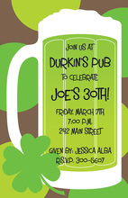 Green Beer St. Patrick Day Invitations
