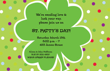 Shamrock Dot Invitation