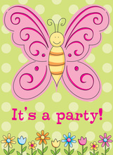 Butterfly Special Fun Party Invitations