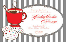 Cookie Cocoa Stripes Holiday Invitations