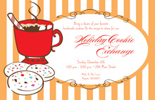 Sweet Cocoa Cookie Holiday Invitations