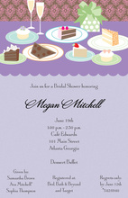 Lavender Dessert Table Invitations