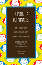 Happy Monkeys Birthday Invitations