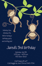 Hanging Monkeys Invitation