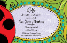 Ladybug Illustration Invitations