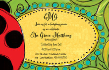 My Stylish Ladybug Invitations