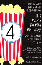Midnight Popcorn Invitations
