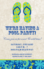 Sandy Beach Flip-Flops Invitation