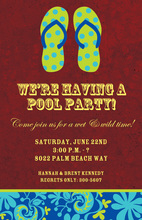 Holiday Flip-Flops Invitation