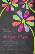 Floral Petals Simple Invitations