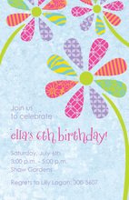 Jubilant Flower Petals Invitation