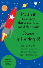 Space Invasion Invitations