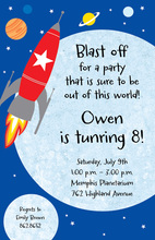 Rocket To Planets Invitation