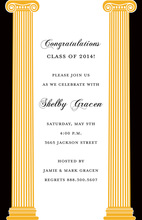 Formal Two Columns Go Greek Way Invitations