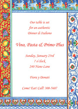Italian Pottery Border Invitations