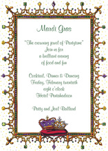 Bejeweled Mardi Gras Invitation