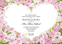 Blooming Sweetheart Roses Invitation