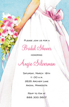 Lovely Bridal Shower Lady Invitations