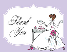 Tea Bride Wedding Thank You Cards
