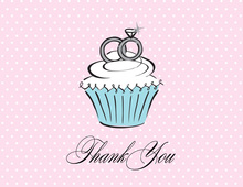 Cupcake Rings Wedding Thank You Cards