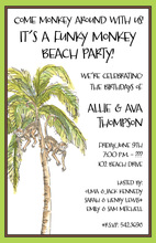 Palm Monkeys Invitation