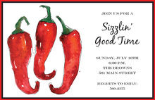 Red Hot Chilies Invitation
