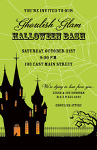 Haunted House In Spider Web Invitations