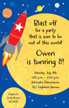 Planets Journey Invitations