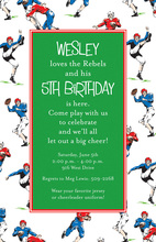 Football Everywhere Invitations