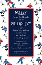 Sporty Rugby Football Invitations