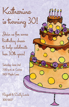 Cocoa Birthday Cake Invitations